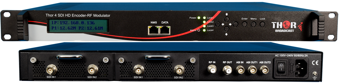 1-4 HD-SDI to RF ATSC Modulators and IPTV HD Encoder Streamer