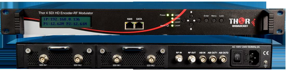 1-4 HD-SDI to RF QAM Modulators
