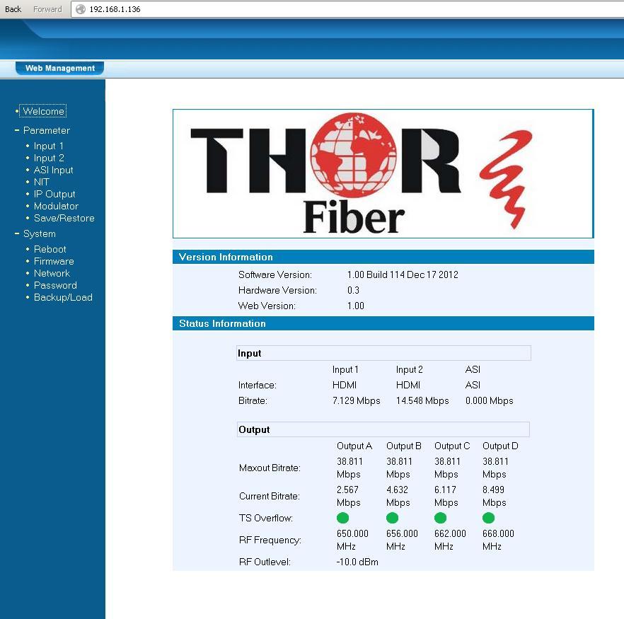 CVBS Thor Digital QAM Multiplexing Encoder :: Thorbroadcast