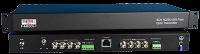 8 SD/HD-SDI + 10/100 Etheren + Analógico de Audio y RS de Datos a través de fibra Multimodo Bidireccional Kit de Transmisión