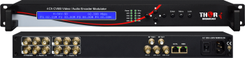 4 Analog Video Audio ASI and IPTV SD Encoder Streamer & Mux