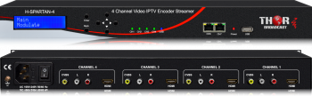 4 Channel HDMI + CVBS Network Encoder Streamer UDP/RTP (Unicast/Multicast), Low latency HLS, RTMP, HTTP & USB playback
