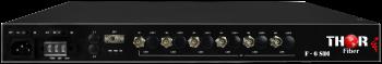 6 Ch SD/HD 3G-SDI a Través de una Única Fibra CWDM sin Comprimir para Montaje en Rack