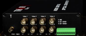 8 HD-TVI Vídeo de la Fibra de Transmisor / Receptor