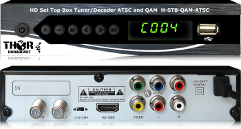 QAM CATV RF and ATSC RF to HDMI Decoder STB  / Digital RF to HDMI Decoder