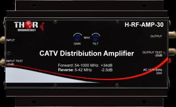 Distribution Amplifier 30db 54-1000Mhz COAX CATV QAM ATSC Analog RF