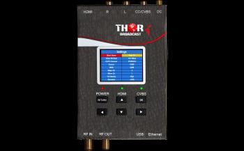 RF Digital de Bolsillo Modulador con A/V o HDMI y QAM/ATSC/TDT/ISDBT de Salida