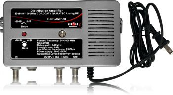 Distribution Amplifier 30db 54-1000Mhz COAX CATV QAM ATSC Analog RF