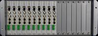 SDI + Ethernet 10/100 + RS485 de Fibra Óptica de la Cuchilla de 16 CH Chasis