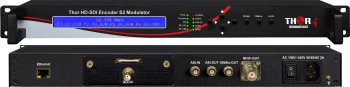 SDI to DVB-S / S2 / S2x  Satellite Modulator with RF CID -Carrier ID and AES