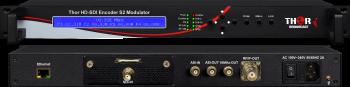 SDI para se?ales DVB-S / S2 / S2x Satélite de Modulador RF en el CID -la IDENTIFICACIÓN del Portador y AES