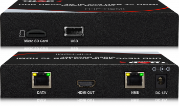 4K HEVC IP and USB HD Video Decoder  - IP Stream Input HDMI Output